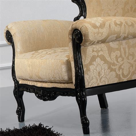 black lacquered louis xv style armchair