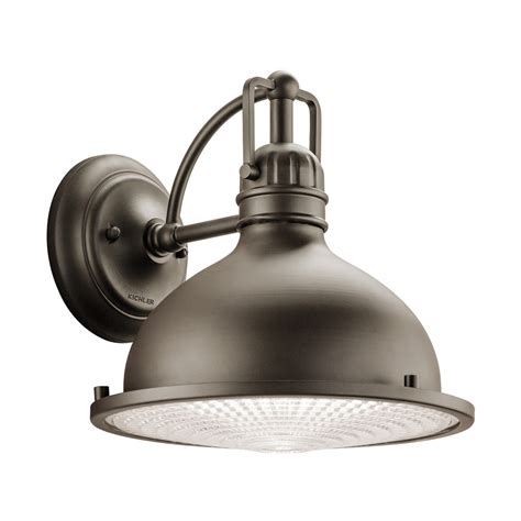 Kichler Led Outdoor Lighting Shop Kichler Hatteras Bay 10 25 In H Led Olde Bronze Sky Outdoor Wall Light At Lowes