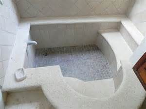 sunken tub with steps and seat bath time