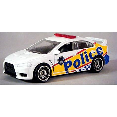 matchbox mitsubishi matchbox mitsubishi lancer evolutionx patrol car
