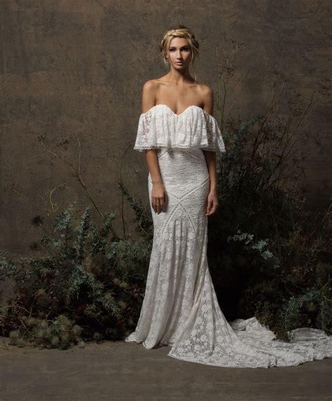 Shoulder Lace Wedding Dress lizzy shoulder lace wedding dress dreamers and