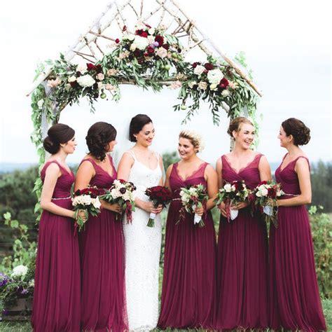wine colored bridesmaids dresses wine color bridesmaid dresses ideas