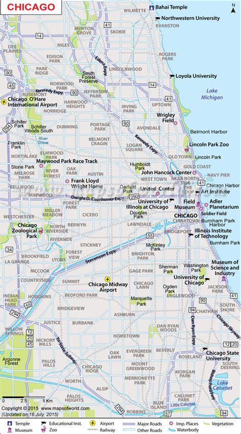 chicago map map  chicago neighborhoods chicago