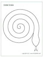Snake Template by Spiral Snake Printable Templates Coloring Pages