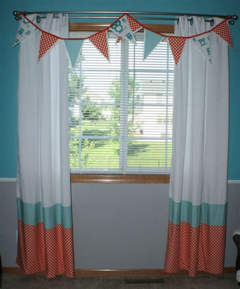 orange nursery curtains curtains baby pinterest