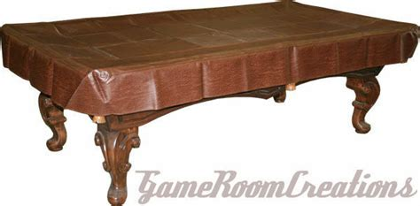 fitted pool billiard snooker table cover heavy duty naugahyde brown ebay