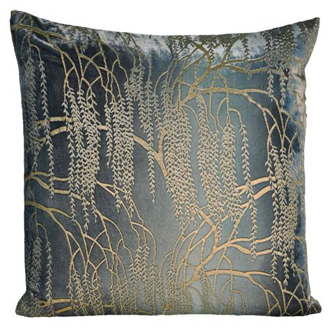 kevin o brien studio metallic willow velvet dec pillow
