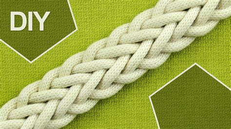 Macrame Braiding - how to make a 7 strand braid