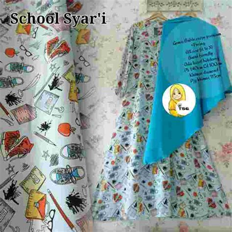 Gamis Syari Remaja baju gamis syari remaja b027 crepe model baju gamis syari