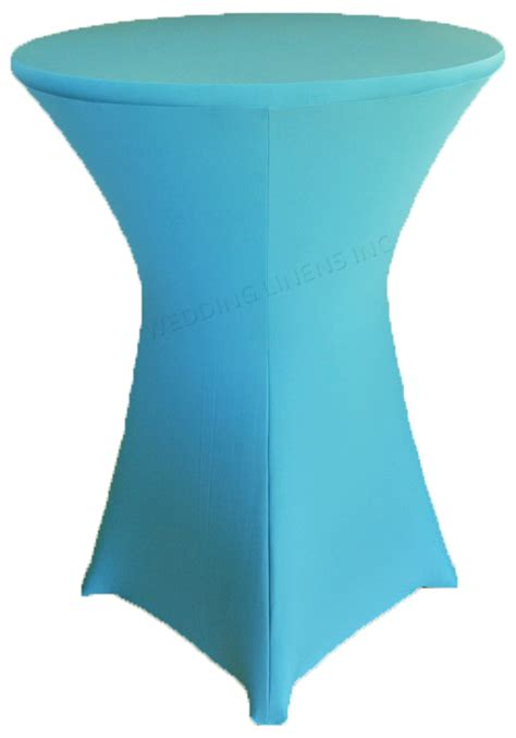 turquoise table cover turquoise cocktail highboy spandex table covers 30 inch