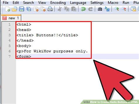 how to create radio buttons in html 9 steps with pictures