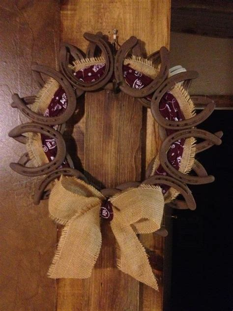 pin by marah ingalsbe on my home pinterest horse shoes horseshoe wreath and wreaths on pinterest