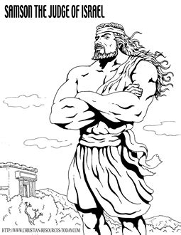 bible coloring pages samson bible story pages