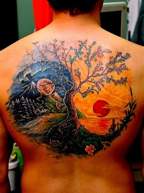 yin yang tree tattoo 30 yin yang designs for inspiration