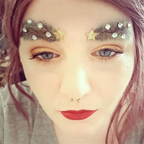 images of christmas eyebrows extravagant christmas makeup trend the christmas tree