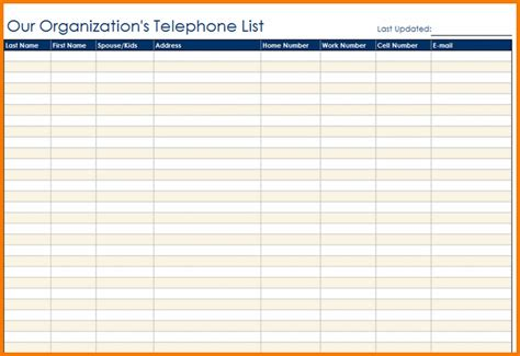 contact list template authorization letter pdf