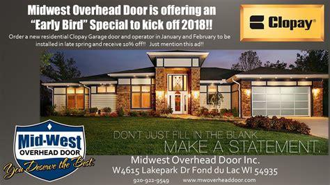 West Overhead Doors Mid West Overhead Door Door Care Services Fond Du Lac Wi