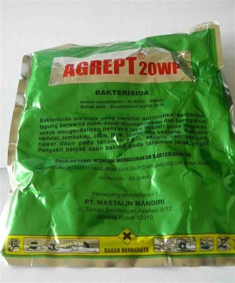 Bakterisida Agrept 20wp 50 Gr agrept 20 wp 50 gr obat tanaman