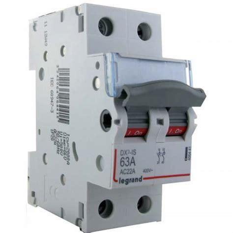section 25a legrand interrupteur sectionneur de t 234 te 2p 400v 63a 2m