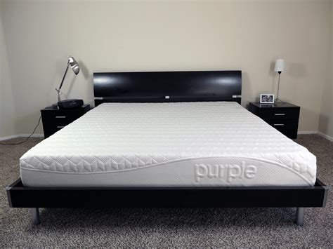 purple platform bed purple mattress review sleepopolis