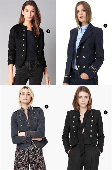 vestes style militaire  moins de  euros taaora blog mode tendances