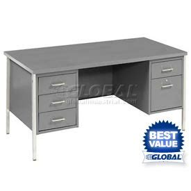 global industrial office furniture desks steel desks mbi pedestal steel desks www globalindustrial ca