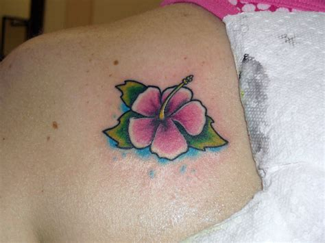 small cartoon tattoos small hibiscus by manley tattoonow
