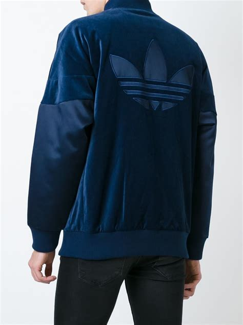 Jaket Sweater Hoodie Adidas Bronzy lyst adidas originals velvet superstar jacket in blue