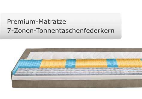 matratze ohne zonen boxspringbett ohne kopfteil in 140x200 cm zamora