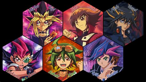 yugioh wallpapers for iphone 5 yu gi oh main protagonists wallpaper v3 by kaitouyahiko