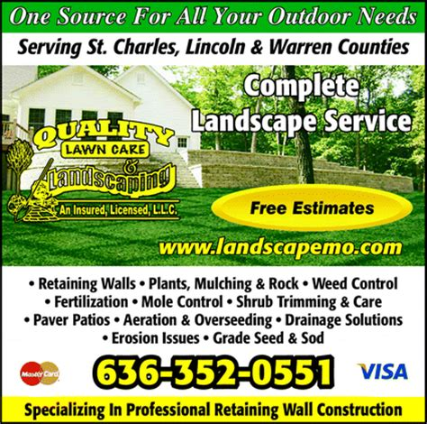 Landscaping Advertising Ideas Quality Lawn Care Landscaping Troy Mo 63379 Yellowbook