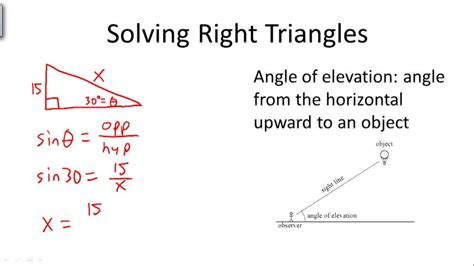solving right triangles