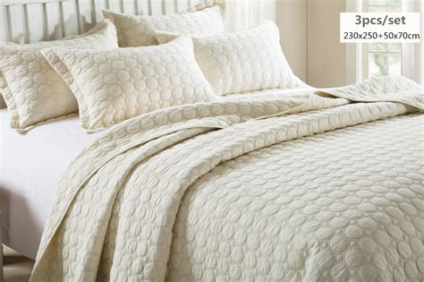 100 Cotton Comforters by Aliexpress Buy Beige Color Oversize Bedspread