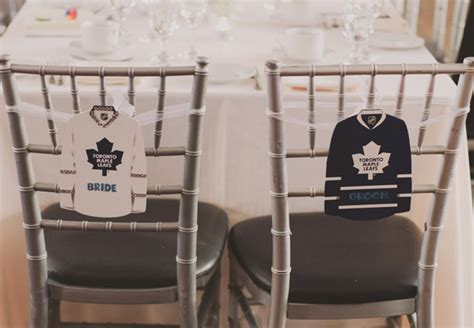 bridal guide toronto wedding has maple leafs theme and you