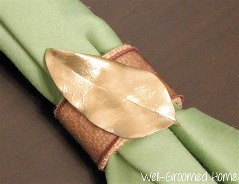 Handmade Napkin Rings - handmade napkin rings well groomed home