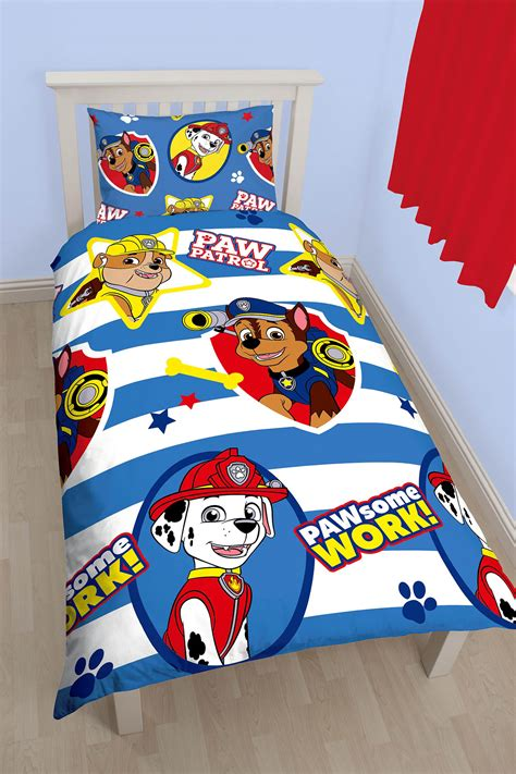 paw patrol comforter new paw patrol pawsome single duvet quilt cover bedding