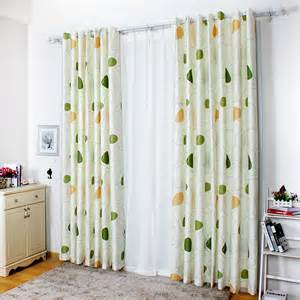 Curtains With Green Refreshing White Green Polyester Geometric Curtains