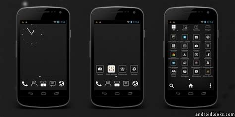 themes for android black absence of light android theme for smart launcher 2