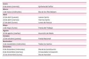 Calendario 2018 Baleares Calendario Laboral A 241 O 2017