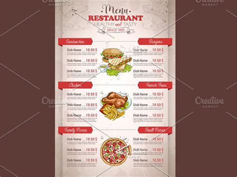 sle restaurant brochure restaurant brochure design