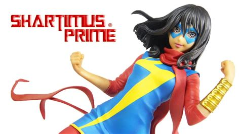 Kotobukiya Mk221 Ms Marvel Kamala Khan bishoujo ms marvel kamala khan kotobukiya marvel comics statue review