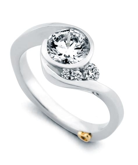 escape contemporary engagement ring schneider design