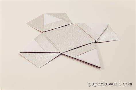 Origami Pyramid - modular origami pyramid box tutorial paper kawaii