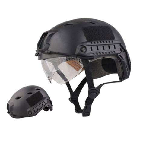Helm Tactical tactical helm airsoft paintball swat protective fast helmet w h goggle
