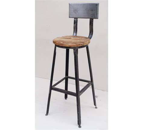 Tabouret De Bar Fer Forgé Et Bois by Chaise De Bar M 233 Tal Quot Atelier Gray Quot 7013