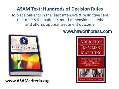 Asam Criteria For Ambulatory Detox by Rx16 Tpp Tues 330 1 Gavin 2saddy 3gastfriend