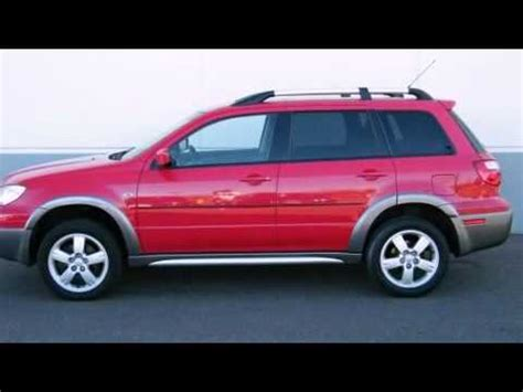 how to fix cars 2005 mitsubishi outlander free book repair manuals 2005 mitsubishi outlander xls suv in maplewood mn 55109 youtube