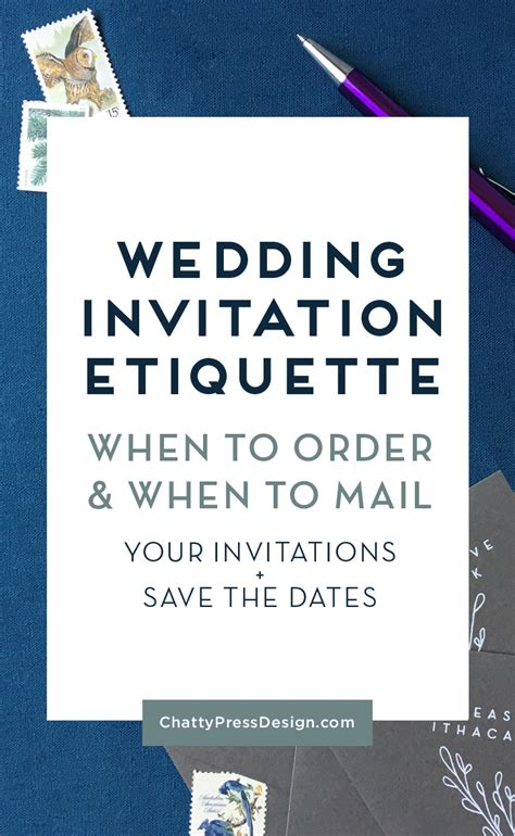 When Should You Mail Out Wedding Invitations