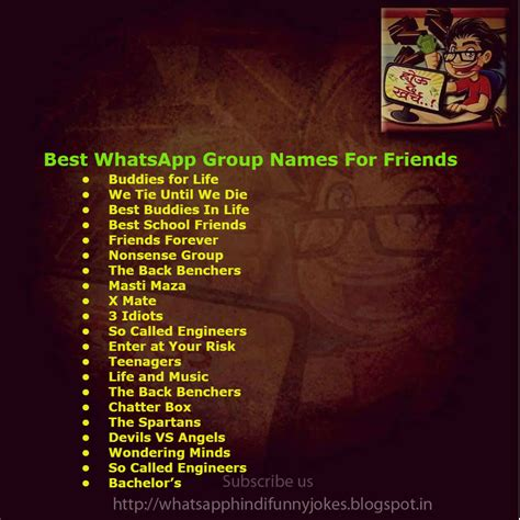 best name for whatsapp jokes whatsapp names list 2018