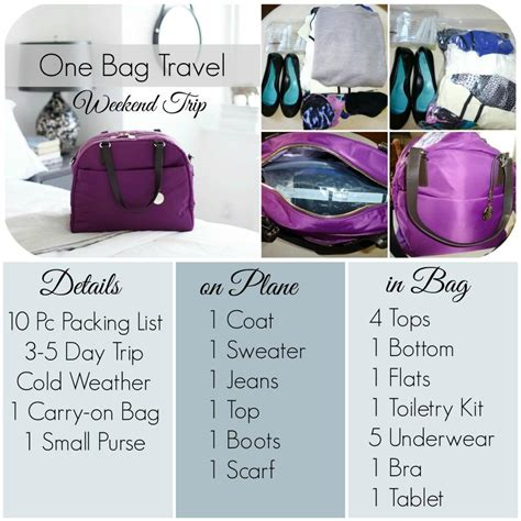 Fashion Advice Great Travel Bags For Less 3 by One Bag Travel How To Pack For A Weekend Trip